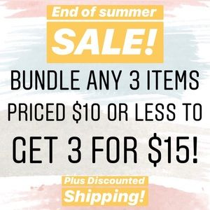 3 for $15 Bundles!